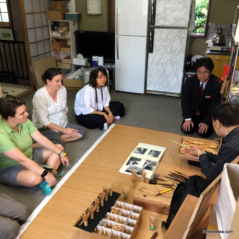 Visiting a bamboo workshop