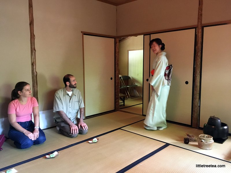 preparing for tea ceremony