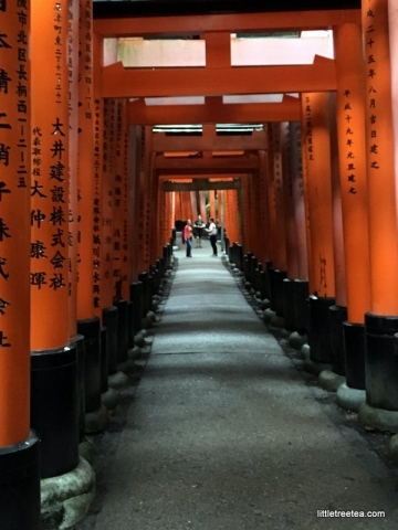 Strolling through the gates of a temple in Kyoto