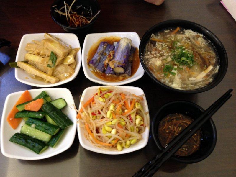 Dumpling sides and soup
