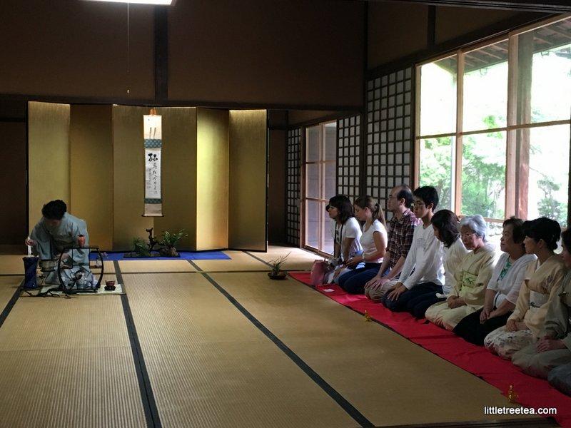 preparing for sencha ceremony