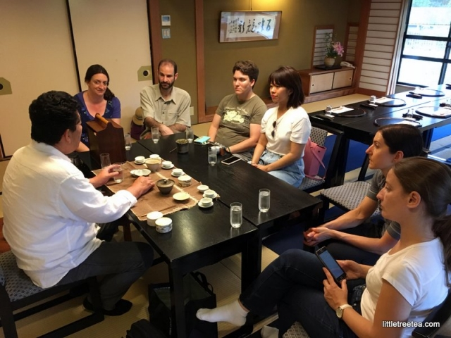 learning about Japanese tea