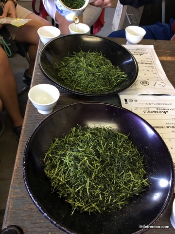 Un-sorted gyokuro leaves