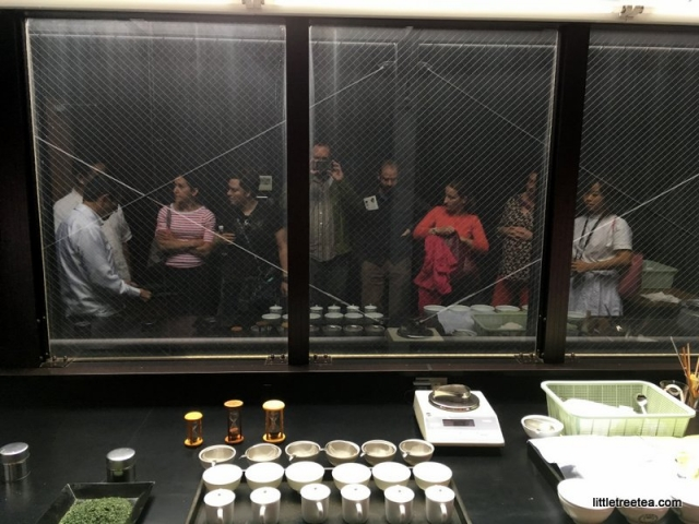 Group reflection at matcha factory tasting room