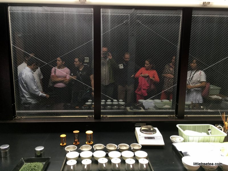 Group reflection at matcha factory tasting room