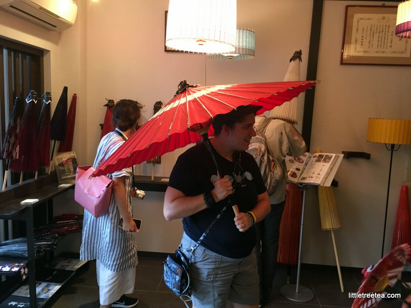 Traditional umbrella shop in Kyoto